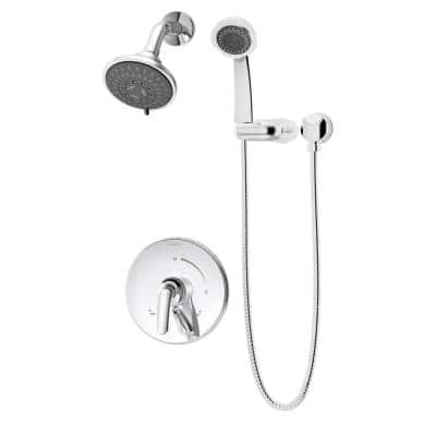 Elm 1-Handle 5-Spray Shower Trim with Hand Shower in Polished Chrome - 1.5 GPM (Valve not Included)