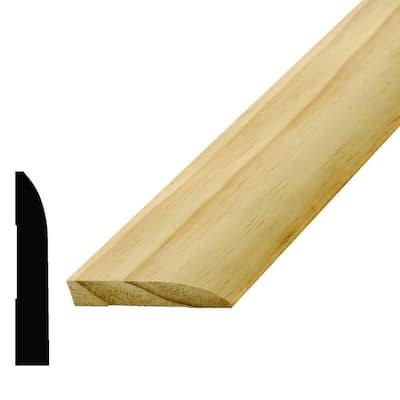 WM 713 9/16 in. x 3-1/4 in. x 96 in. Wood Pine Base Moulding