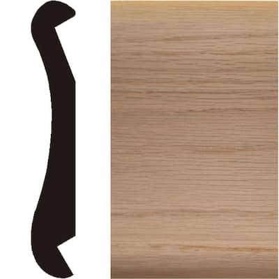 1 in. x 6 in. x 4 ft. Oak Wood Bar Rail Moulding