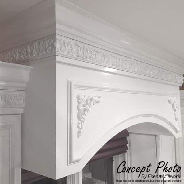 Ekena Millwork 3 In X 4 In X 94 1 2 In Polyurethane Traditional Smooth Crown Moulding Mld04x03x05tr The Home Depot