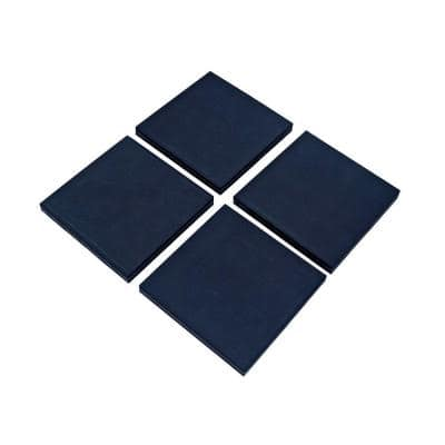 4 in. x 4 in. x 3/4 in. Black Vibration Control Utility Pads with Slip Guard (4 per Pack)
