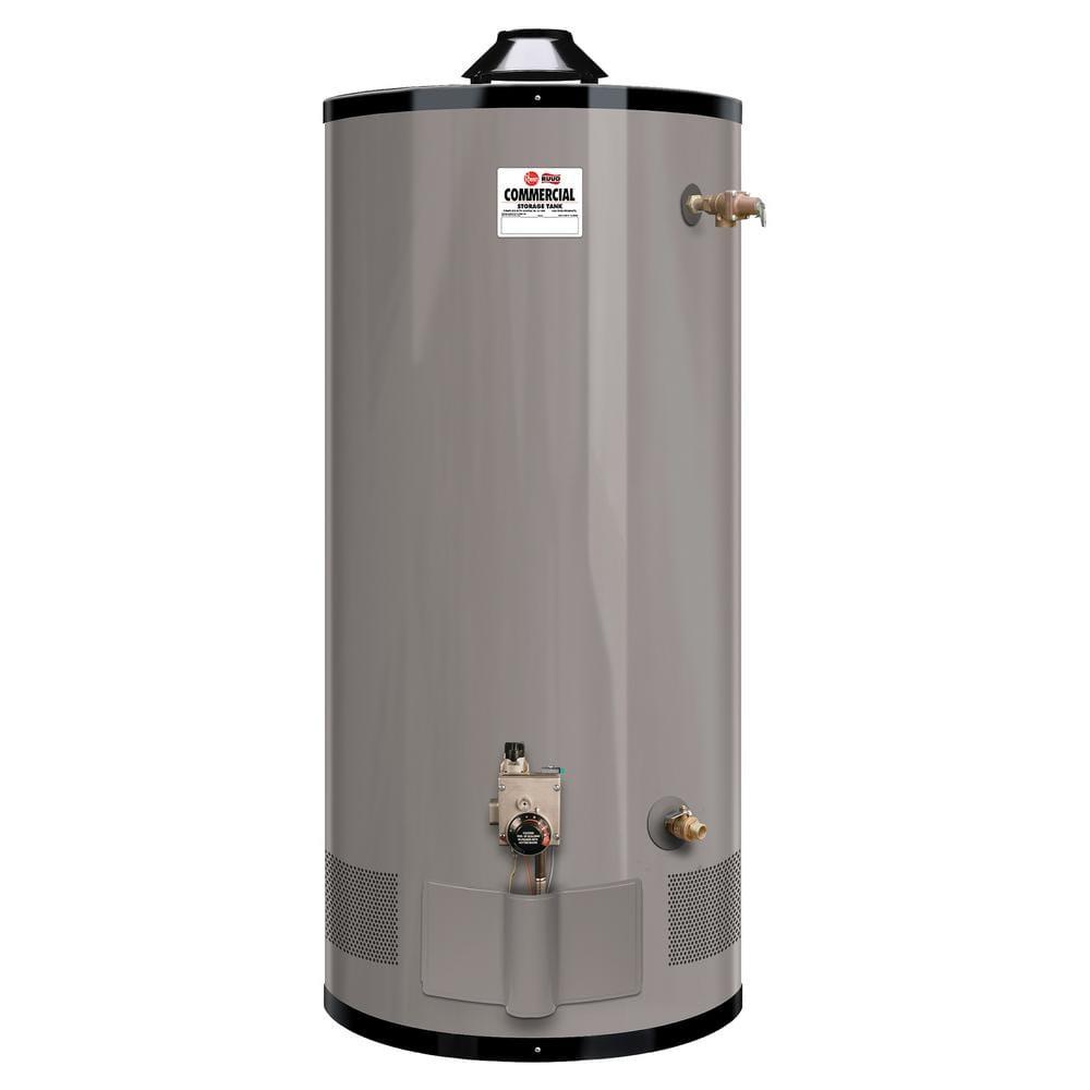 Rheem Medium Duty 100 Gal 76k Btu Low Nox Ln Commercial Natural Gas Tank Water Heater G100 80n The Home Depot