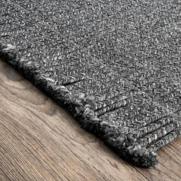 Nuloom Courtney Braided Charcoal 3 Ft X 8 Ft Indoor Outdoor Runner Hjfv11c 2608 The Home Depot