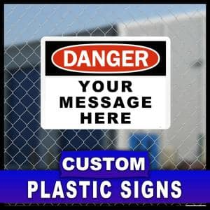 12 in. x 18 in. Custom Sign Printed on More Durable, Thicker, Longer Lasting Styrene Plastic