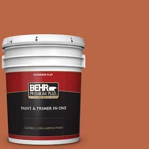 Behr Premium Plus 5 Gal Home Decorators Collection Hdc Fl15 01 Pumpkin Drizzle Flat Exterior Paint Primer 430005 The Home Depot