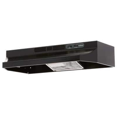 RL6200 Series 30 in. Ductless Under Cabinet Range Hood with Light in Black