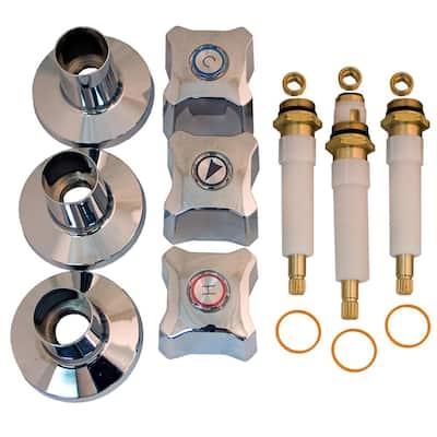 Tub and Shower Rebuild Kit for Kohler Trend 3-Handle Faucets