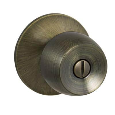 Brandywine Antique Brass Bed/Bath Privacy Door Knob