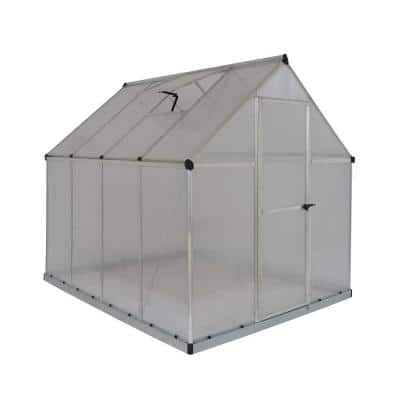 Multi Line 6 ft. x 8 ft. Aluminum Frame Polycarbonate Greenhouse