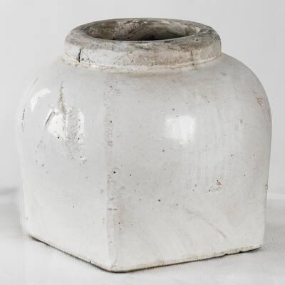Stoneware Semi-glazed Medium Decorative Vase