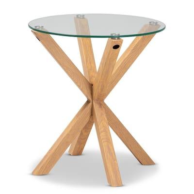 Natural Lida Glass End Table