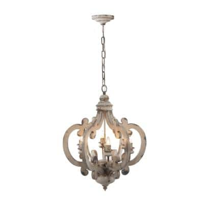 "20.5x18x24"" Baroda 6-Light Chandelier 1EA/CTN"
