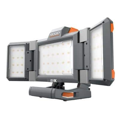 18V Hybrid Folding Panel Light Kit with 4.0 Ah MAX Output Battery and Charger
