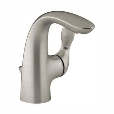 Refinia Single Hole Single Handle High-Arc Water-Saving Bathroom Faucet in Vibrant Brushed Nickel
