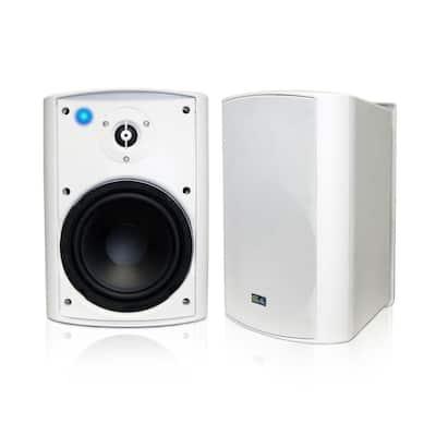 Bluetooth 6.50 in. Indoor/Outdoor Weatherproof Patio Speakers Wireless Outdoor Speakers, White