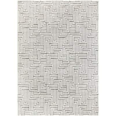 Maze Cream 5 ft. x 7 ft. Global Indoor/Outdoor Area Rug