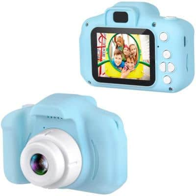 Kids Digital Camera 1080p Color Display Micro SD Slot (32GB SD Card Included) Perfect Gift for Children (Blue)