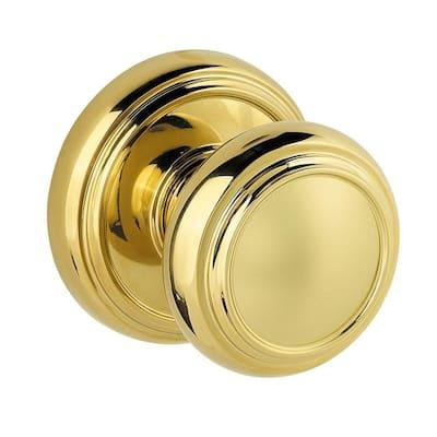 Prestige Alcott Polished Brass Dummy Door Knob