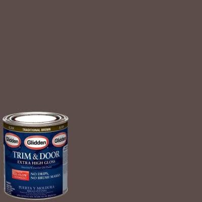 1 qt. Traditional Brown Gloss Interior/Exterior Oil Paint