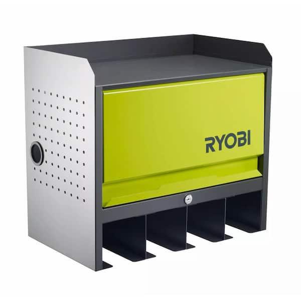 Ryobi Steel 2 Shelf Wall Mounted Garage, Wall Mounted Storage Cabinets Home Depot
