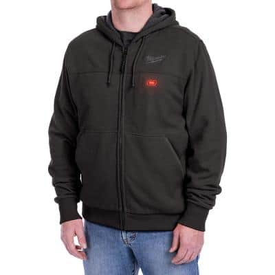 Men's Small M12 12-Volt Lithium-Ion Cordless Black Heated Hoodie Kit with (1) 1.5Ah Battery and Charger