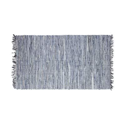 Halima Fringe Blue 2 ft. x 4 ft. Moroccan Accent Rug