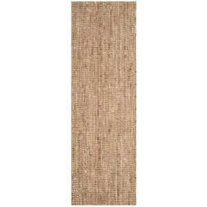Natural Fiber Beige/Ivory 3 ft. x 22 ft. Solid Runner Rug