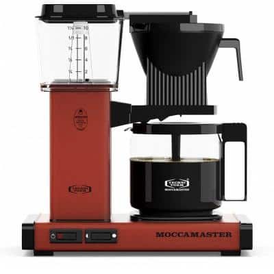 KBG 10-Cup Brick Red Drip Coffee Maker