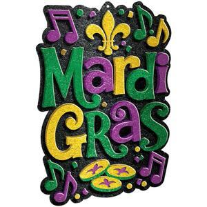 21 in. Mardi Gras Plastic 3D Decoration (2-Pack)