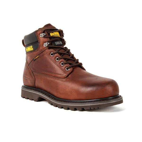 Dewalt Men S Axle Waterproof 6 Work Boots Steel Toe Walnut Pitstop Size 10 5 M Dxwp99004m Wal 10 5 The Home Depot