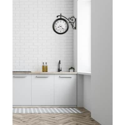 LUIS Series Black Battery Operated Indoor/Outdoor Wall Clock