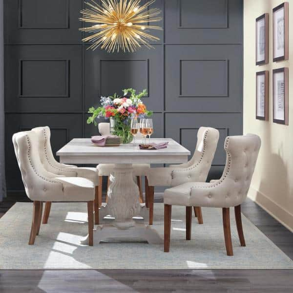 Home Decorators Collection Kingsley, White Dining Room Table
