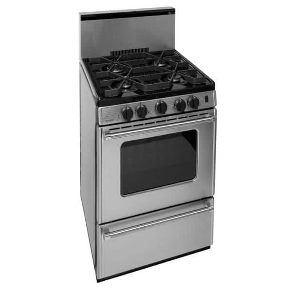 Premier Proseries 24 In 2 97 Cu Ft Battery Spark Ignition Gas Range In Stainless Steel P24b3202ps The Home Depot