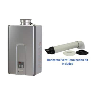 High Efficiency Plus 7.5 GPM Residential Natural Gas Interior Tankless Water Heater with 21 in. Vent Kit Bundle