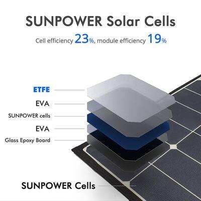 90-Watt Foldable Mono Solar Panel Portable Kit, Compatible with ACOPower Portable Chest Fridge Freezer Cooler
