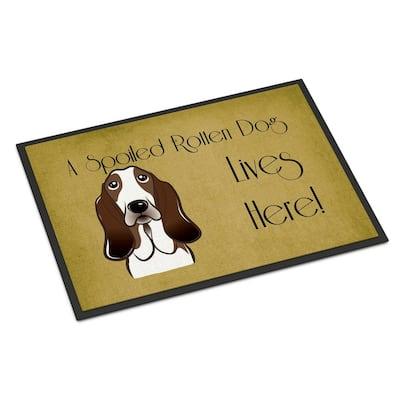 18 in. x 27 in. Indoor/Outdoor Basset Hound Spoiled Dog Lives Here Door Mat