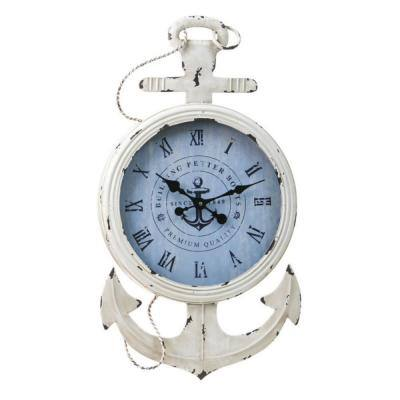 Metal And Wood Anchor Clock