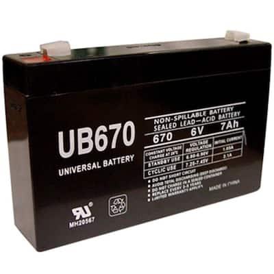 6-Volt 7 Ah F1 Sealed Lead Acid (SLA) AGM Rechargeable Battery