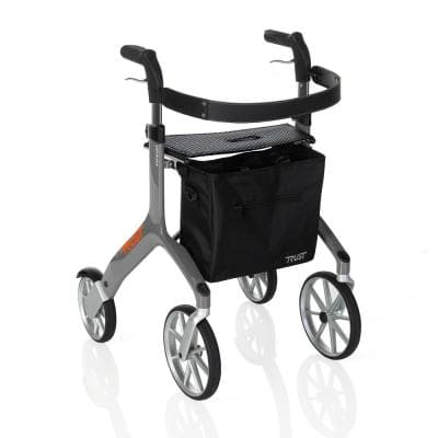 4-Wheels Let's Fly Rollator with in Gray