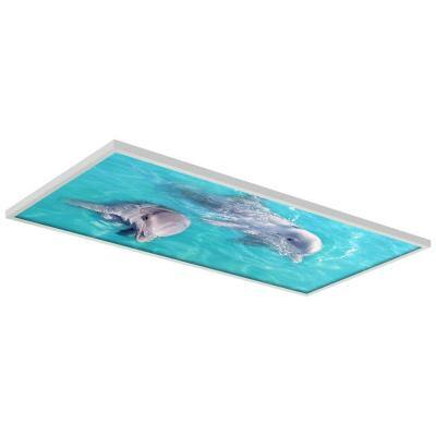 Ocean 002 2 ft. x 4 ft. Flexible Decorative Light Diffuser Panels Ocean for Classrooms and Offices