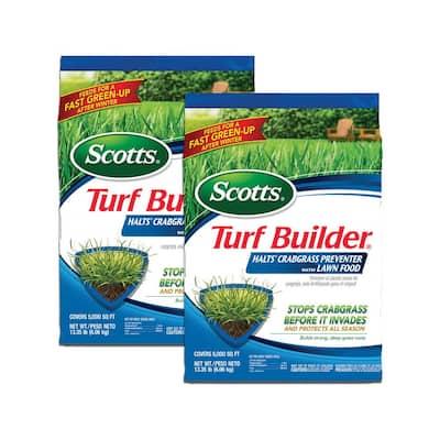 Scotts Turf Builder Halts Crabgrass Preventer with Lawn Food (2-Pack)