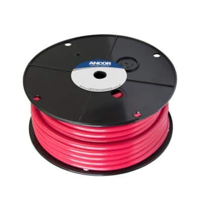 Marine Grade Tinned Copper Battery Cable 2 AWG, Red, 25 ft.