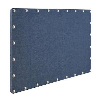Steele Navy Blue Burlap Cork Memo Board