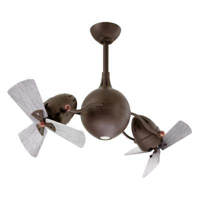 Acqua 39 in. Integrated LED Textured Bronze Ceiling Fan with Light Kit