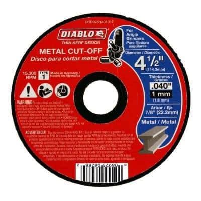 4-1/2 in. x 0.040 in. x 7/8 in. Thin Kerf Metal Cut-Off Disc