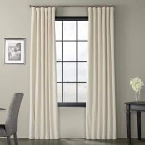 Neutral Ground Velvet Rod Pocket Blackout Curtain - 50 in. W x 96 in. L
