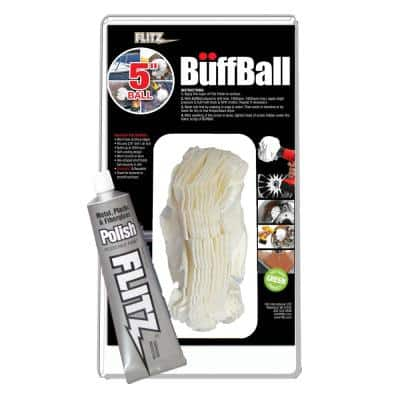 5 in. White Large Original Buff-Ball in Clamshell Packaging