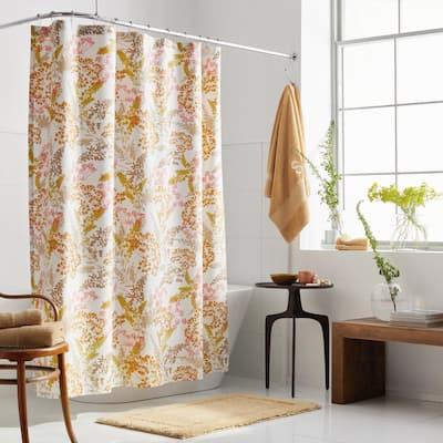 Company Cotton Florescence Percale 72 in. Multicolored Shower Curtain