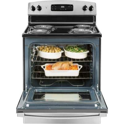 5.0 cu. ft. Electric Range Oven in Stainless Steel