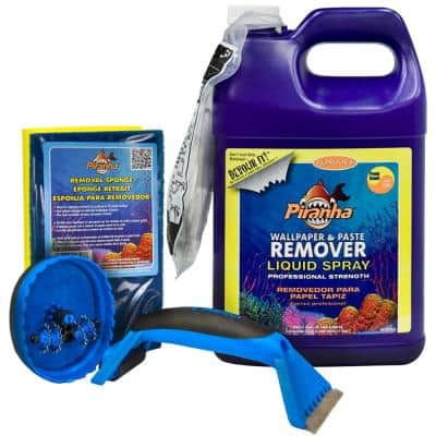 1 gal. Piranha Liquid Spray Wallpaper Removal Kit for Small Sized Rooms